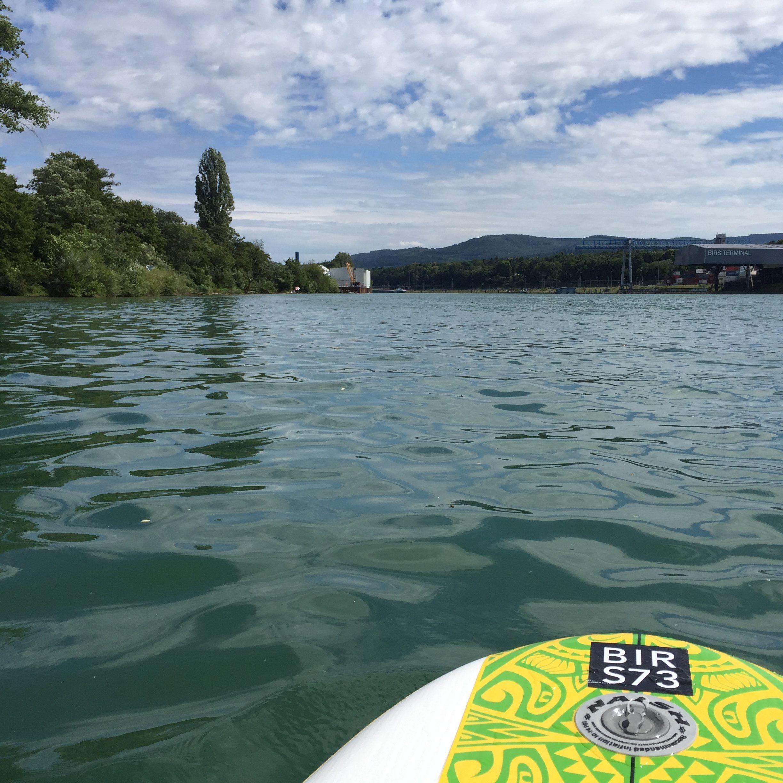 Stand Up Paddle im Rhein