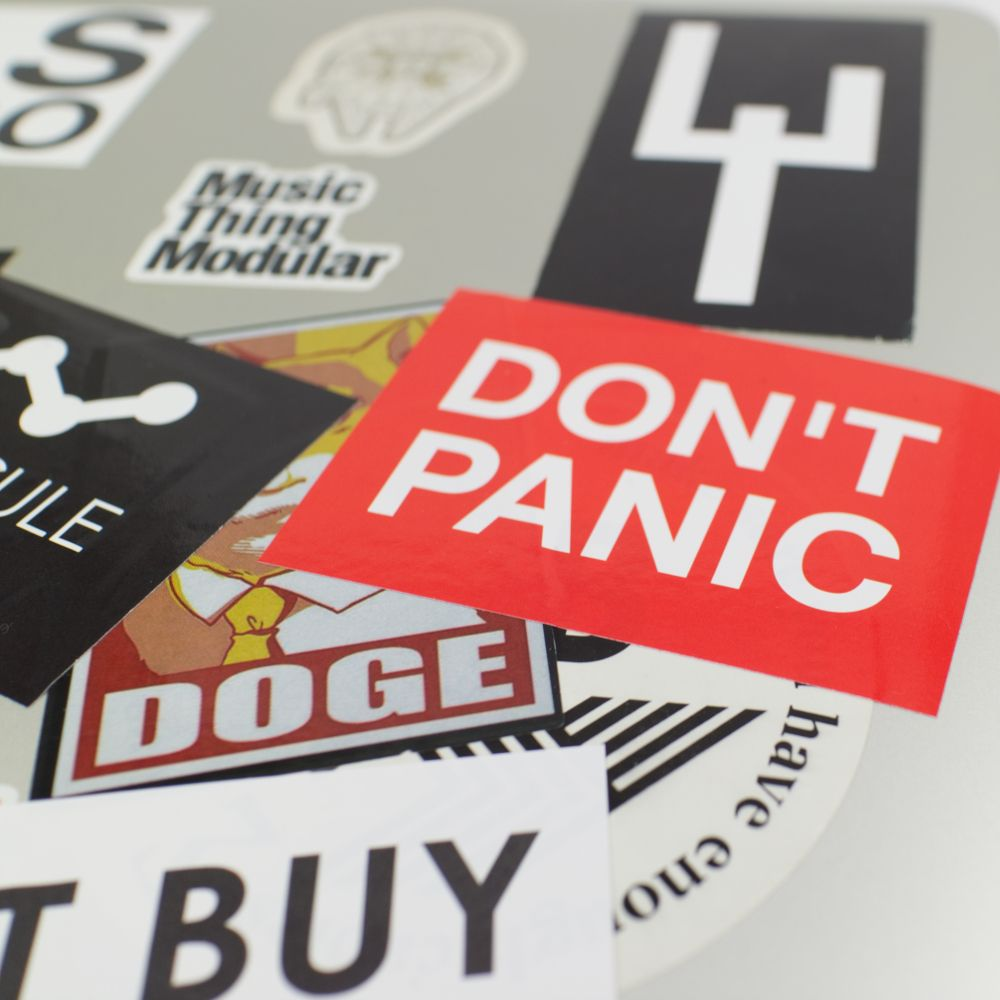 Don't Panic Sticker Laptop