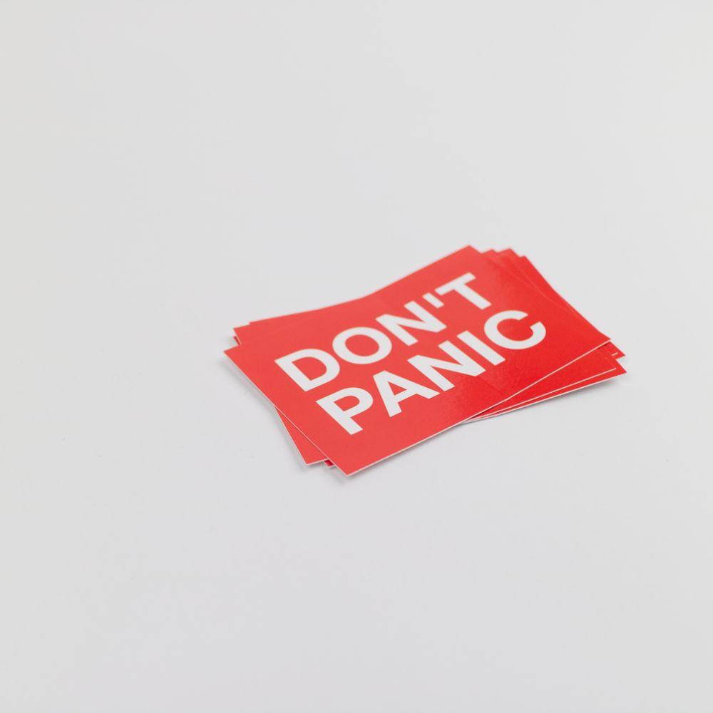 Don't Panic Sticker Seitlich