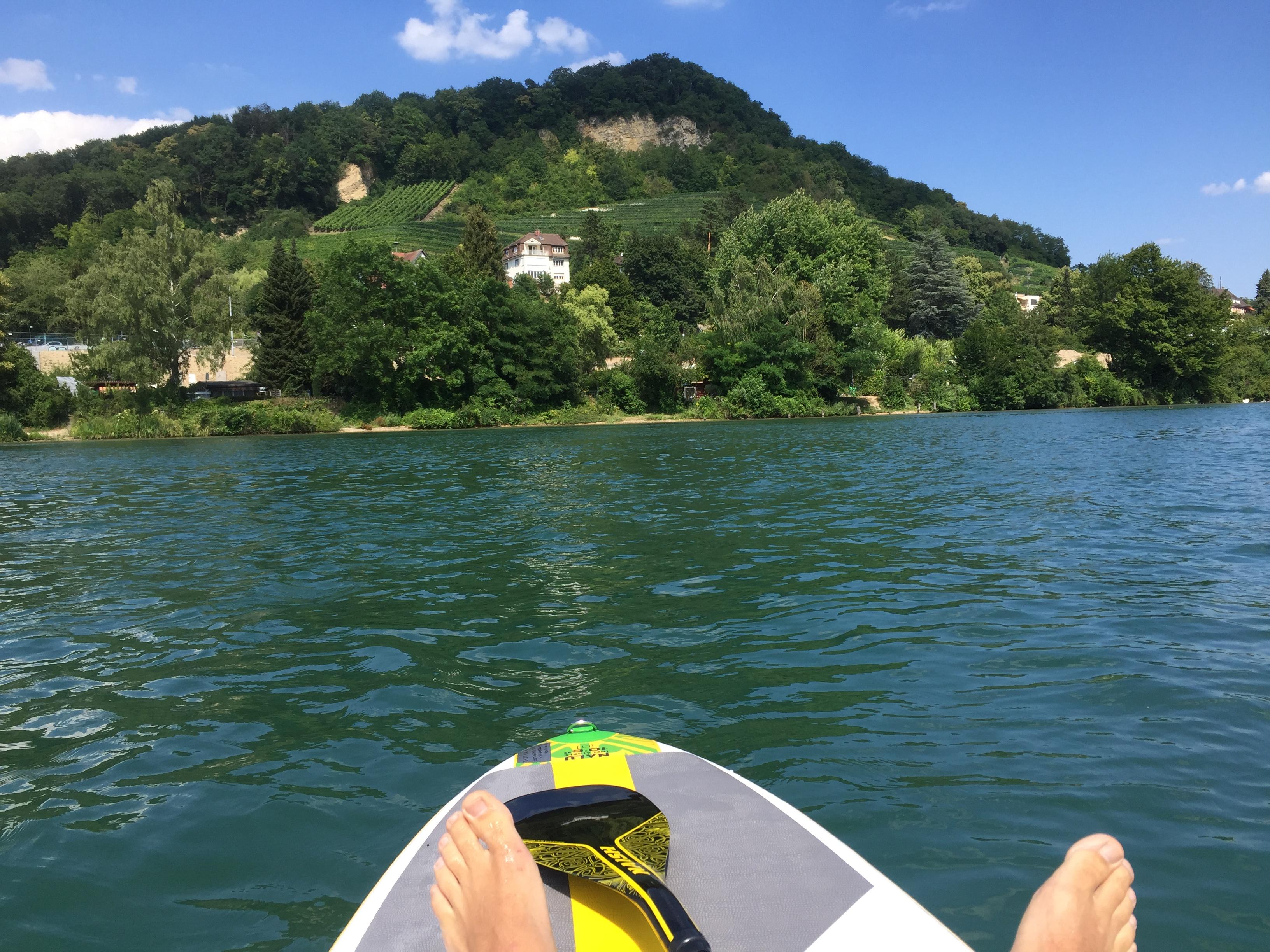 SUP in Basel auf dem Rhein