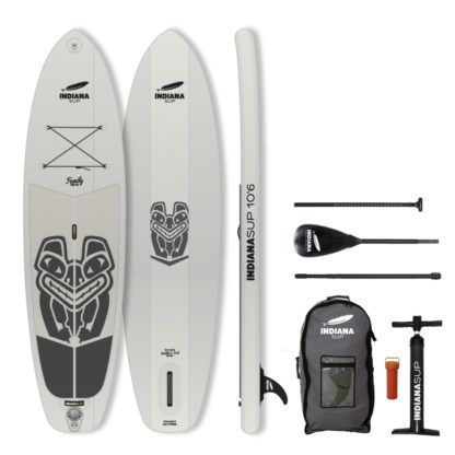 Indiana SUP 10'6 Family Pack Grey Inhalt