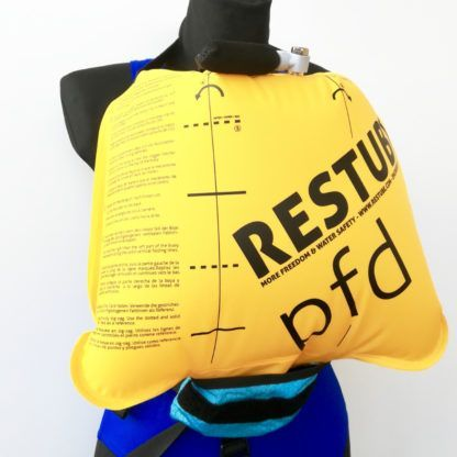 Resttube PFD Schwimmweste aktiviert 2