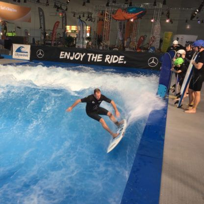 Indiana Citysurf Hardboard Action Shot